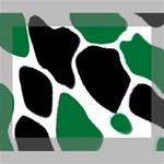 Green Black Digital Pattern Art Canvas 10  x 8  10  x 8  x 0.875  Stretched Canvas