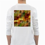Indian Summer Funny Check White Long Sleeve T-Shirts Back