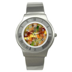 Indian Summer Funny Check Stainless Steel Watch