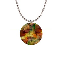 Indian Summer Funny Check Button Necklaces