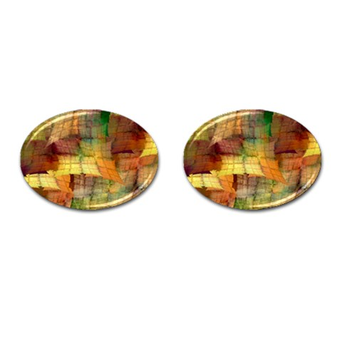 Indian Summer Funny Check Cufflinks (Oval)