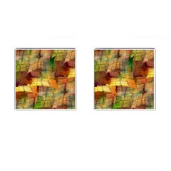 Indian Summer Funny Check Cufflinks (Square)