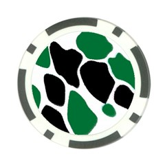 Green Black Digital Pattern Art Poker Chip Card Guards (10 pack)