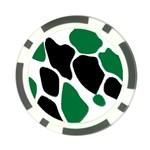Green Black Digital Pattern Art Poker Chip Card Guards (10 pack)  Front