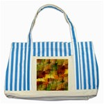 Indian Summer Funny Check Striped Blue Tote Bag Front