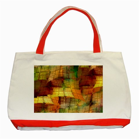 Indian Summer Funny Check Classic Tote Bag (Red)