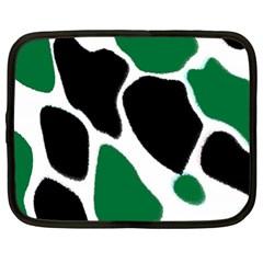 Green Black Digital Pattern Art Netbook Case (XL)