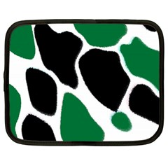 Green Black Digital Pattern Art Netbook Case (XXL)