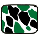 Green Black Digital Pattern Art Netbook Case (XXL)  Front