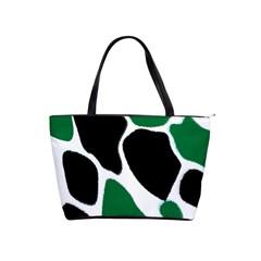 Green Black Digital Pattern Art Shoulder Handbags