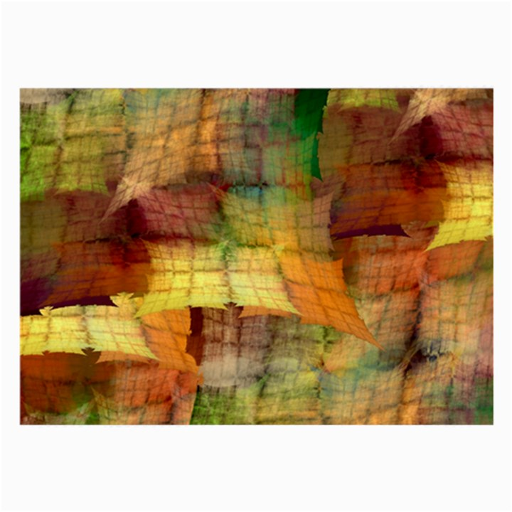 Indian Summer Funny Check Large Glasses Cloth (2-Side)