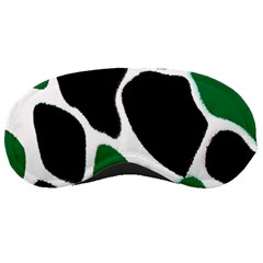 Green Black Digital Pattern Art Sleeping Masks