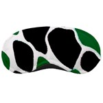 Green Black Digital Pattern Art Sleeping Masks Front