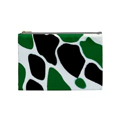 Green Black Digital Pattern Art Cosmetic Bag (Medium)