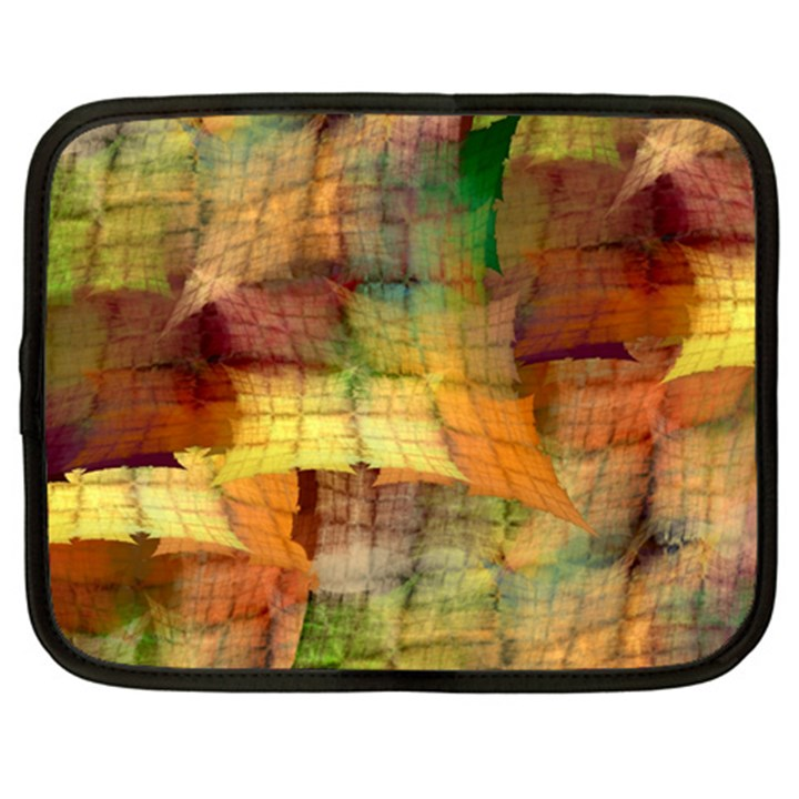 Indian Summer Funny Check Netbook Case (Large)
