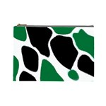 Green Black Digital Pattern Art Cosmetic Bag (Large)  Front