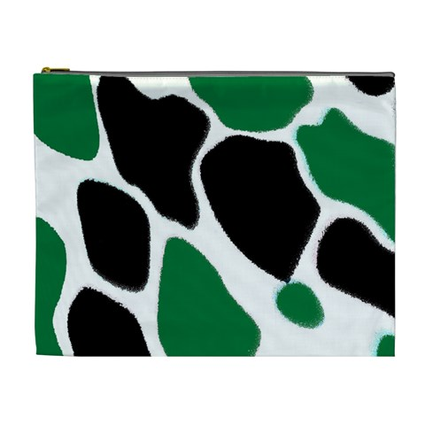 Green Black Digital Pattern Art Cosmetic Bag (XL)