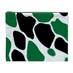 Green Black Digital Pattern Art Cosmetic Bag (XL) Front