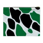 Green Black Digital Pattern Art Cosmetic Bag (XL) Back