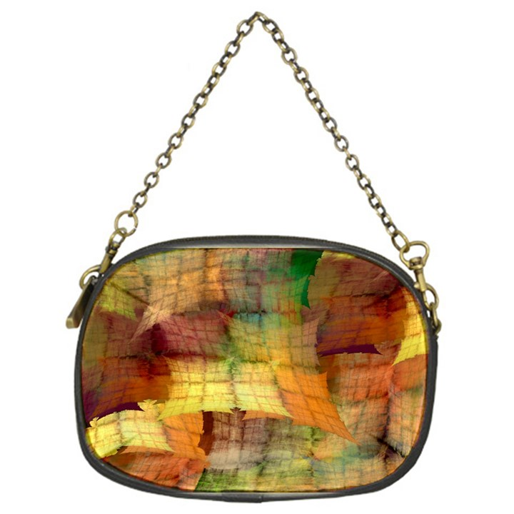 Indian Summer Funny Check Chain Purses (One Side)