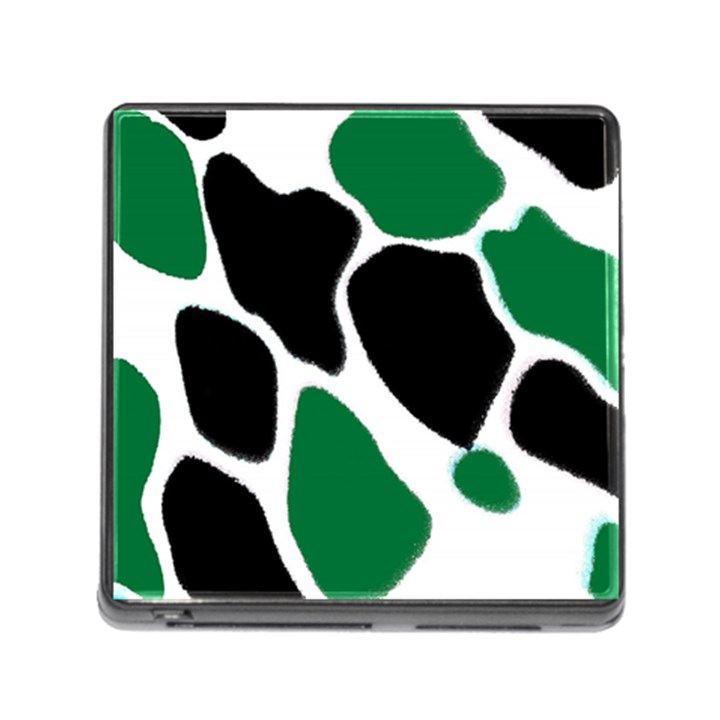 Green Black Digital Pattern Art Memory Card Reader (Square)