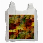 Indian Summer Funny Check Recycle Bag (One Side) Front
