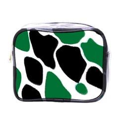 Green Black Digital Pattern Art Mini Toiletries Bags