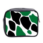 Green Black Digital Pattern Art Mini Toiletries Bag 2-Side Back