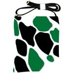 Green Black Digital Pattern Art Shoulder Sling Bags Front