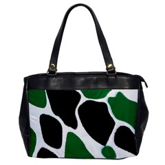 Green Black Digital Pattern Art Office Handbags