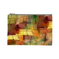 Indian Summer Funny Check Cosmetic Bag (large)