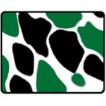 Green Black Digital Pattern Art Fleece Blanket (Medium)  60 x50 Blanket Front