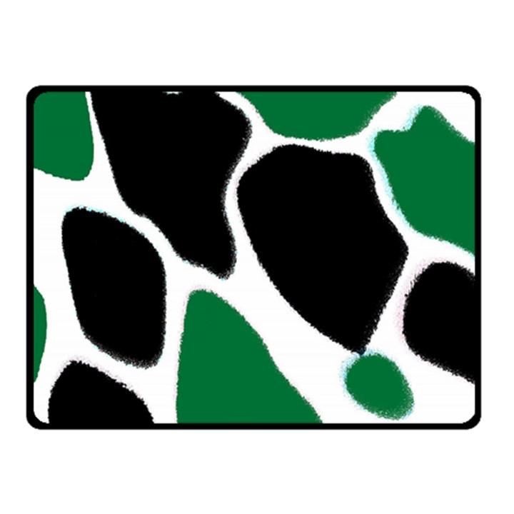 Green Black Digital Pattern Art Fleece Blanket (Small)