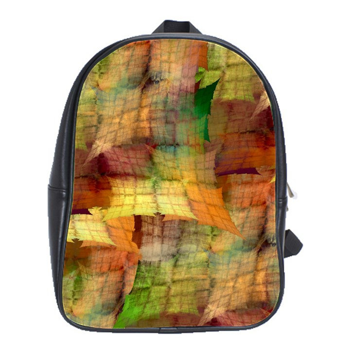 Indian Summer Funny Check School Bags(Large)