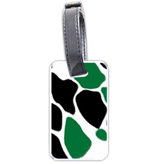 Green Black Digital Pattern Art Luggage Tags (One Side)