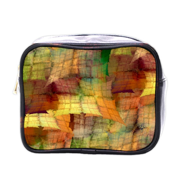 Indian Summer Funny Check Mini Toiletries Bags