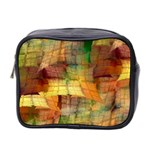 Indian Summer Funny Check Mini Toiletries Bag 2-Side Front