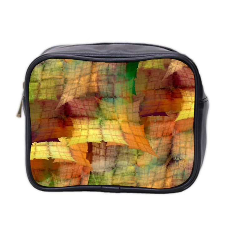 Indian Summer Funny Check Mini Toiletries Bag 2-Side