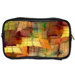 Indian Summer Funny Check Toiletries Bags 2 Side