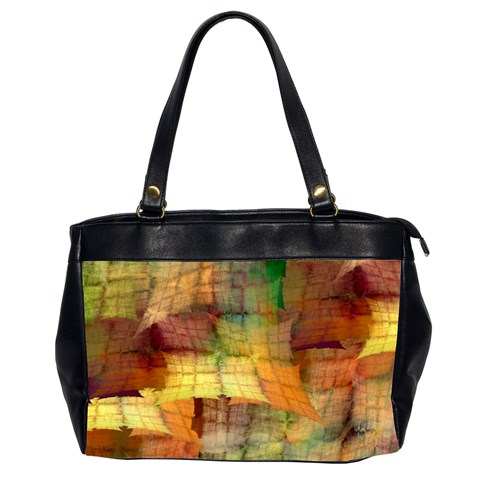 Indian Summer Funny Check Office Handbags (2 Sides)