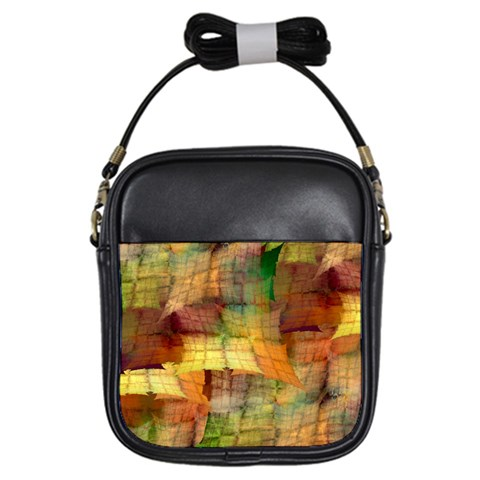 Indian Summer Funny Check Girls Sling Bags