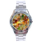 Indian Summer Funny Check Stainless Steel Analogue Watch Front