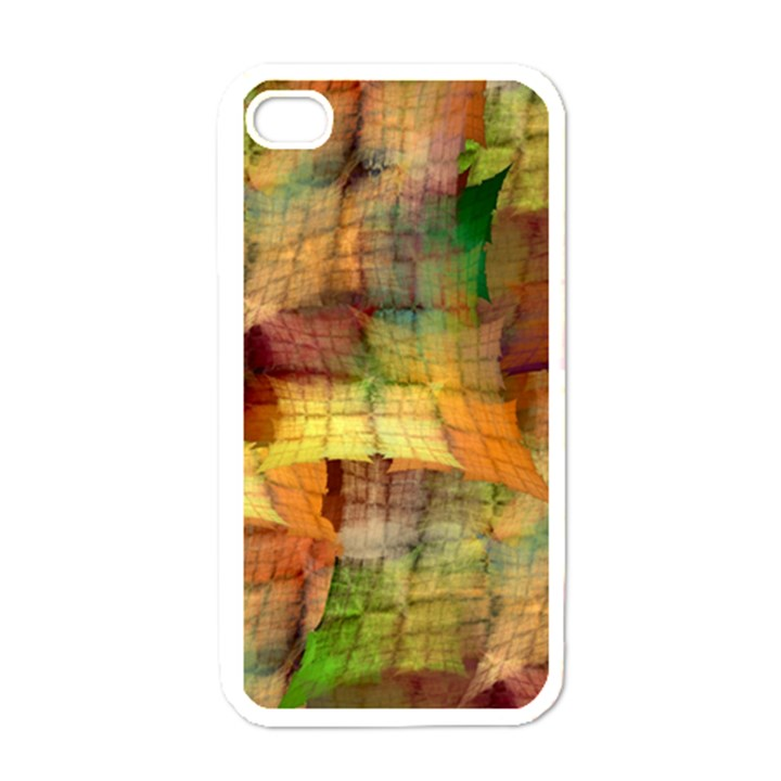 Indian Summer Funny Check Apple iPhone 4 Case (White)