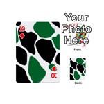 Green Black Digital Pattern Art Playing Cards 54 (Mini)  Front - Diamond10