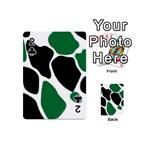 Green Black Digital Pattern Art Playing Cards 54 (Mini)  Front - Club2