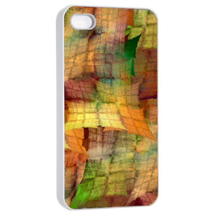 Indian Summer Funny Check Apple iPhone 4/4s Seamless Case (White)
