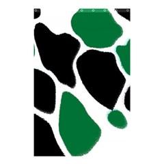 Green Black Digital Pattern Art Shower Curtain 48  x 72  (Small)