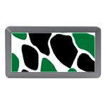 Green Black Digital Pattern Art Memory Card Reader (Mini) Front