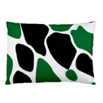Green Black Digital Pattern Art Pillow Case (Two Sides) Front