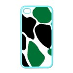 Green Black Digital Pattern Art Apple iPhone 4 Case (Color) Front